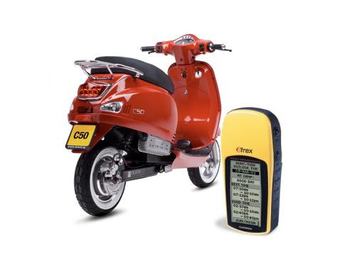 GPS Geploeter op de Scooter